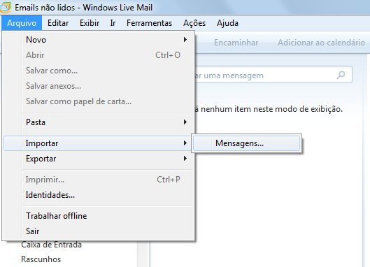 E-mails no Windows 7 – Importar do Outlook Express ou Windows Mail